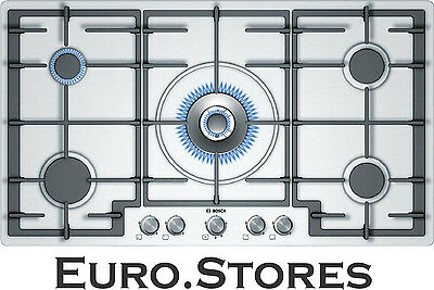 Bosch PCR915B91E Built In 90 cm Gas Hob Brushed Steel 5 Burners Genuine NEW