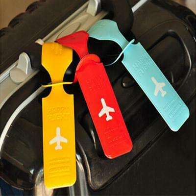 New Travel Luggage Baggage Backpack ID Tag Holder PVC Suitcase Name Tag Labels B
