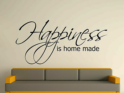 Happiness Is Home Made Decorative Wall Art Sticker 3 Sizes 30 Colours
