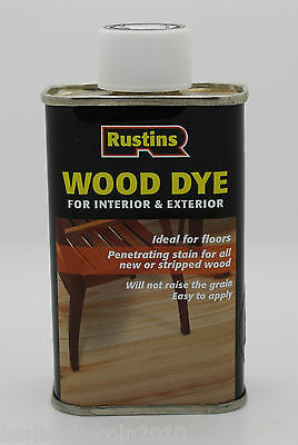 Rustins Wood Dye/Stain/Colour/Finish/Interior & Exterior/ 125ml *PICK COLOUR*