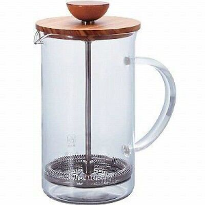 HARIO Tea Maker French Press Wooden Lid THW-4-OV for 4 cup 600ml From Japan F/S