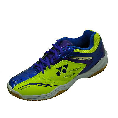 Yonex Badminton Shoe - Shb 34Ex - Blue / Yellow - Comfort And Lightweight