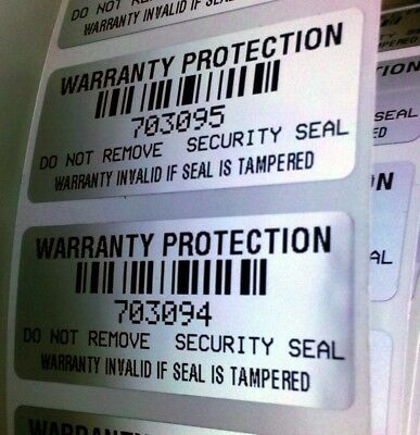 500 Warranty Void Protection Labels Stickers W/bar Code