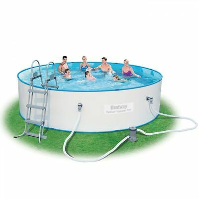 Bestway Hydrium Splasher Steel Wall Swimming Pool Set - Filter Pump Ladder 15ft