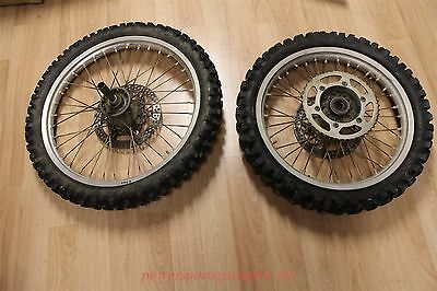 2002 Yamaha YZ125 Wheel Set Front Rear Rotor Sprocket Tires Spokes Tight YZ 125