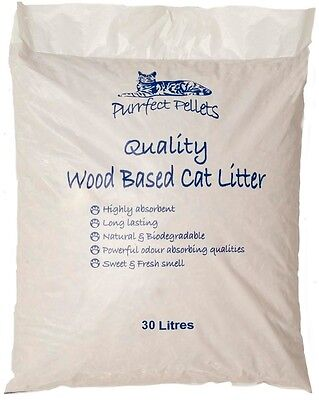 cat Litter Wood Based 30 Litres Purrfect Pellets