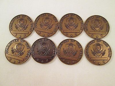 Vintage Jaycees USA Committee of the Year Member 8 Coins  Fraternal Organization