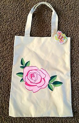 Nwt Tote Bag With Pink Flower.