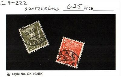 Switzerland Stamp Lot Scott 219, 222 Used Low Combined Shipping