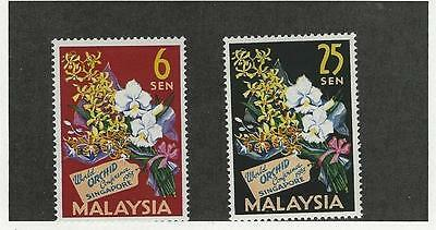 Malaysia, Postage Stamp, #4-5 Mint LH, 1963