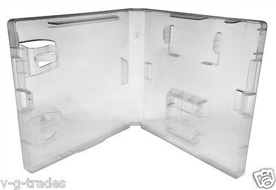 NEW LOT OF 5 CLEAR CASES FOR NINTENDO DS Replacement Game CASE W/ GBA SLOT
