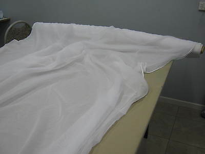 WHITE VOILE CURTAIN FABRIC 290 cm Drop Length LEAD WEIGHTED HEM- selling per mt
