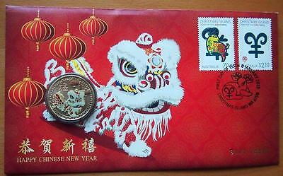2015 Australian Happy Chinese New Year  Pnc Stamp And $1 Coin Covers