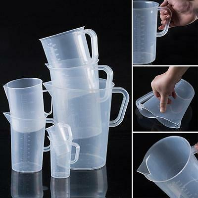 New Plastic Kitchen Measuring Jug Easy Clean Hardwearing With Handle 250-2000ML