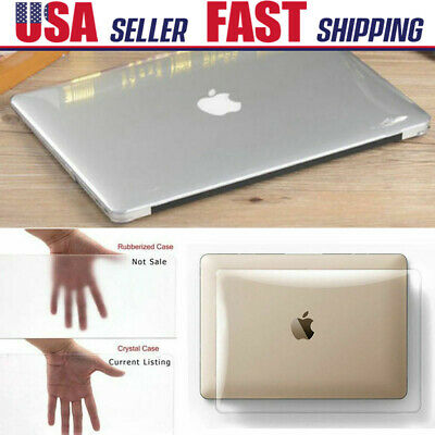 """Clear Crystal Snap On Macbook Case Cover for Air Pro Retina 11"""" 12"""" 13"""" 15"""" Inch"""
