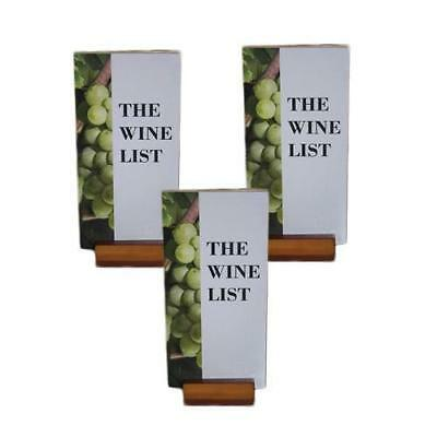 20 x Menu Display Stand, DL Timber w Acrylic Top, Restaurant / Wine List / Menus