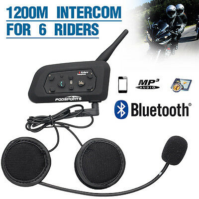 Intercomunicador V6-1200M Interphone Bluetooth Auriculares Interfono para Moto
