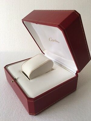 """Cartier Vintage Red watch box"""" Damage""""condition without white outer cover= Box1"""