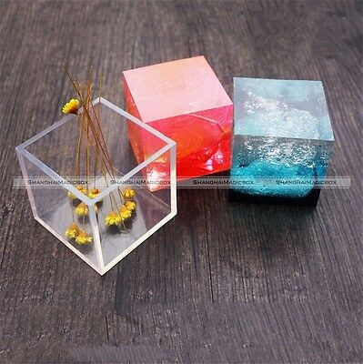 Liquid Silicone Cube Mould Dried Flower Resin Craft DIY Jewelry Making Mold S8