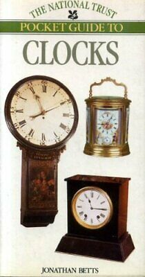National Trust Pocket Guide to Clocks by Betts, Jonathan Hardback Book The Cheap