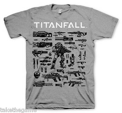 Official Licensed Titanfall Choose Your Weapon T-Shirt GE1687 Size Choice - BNIP
