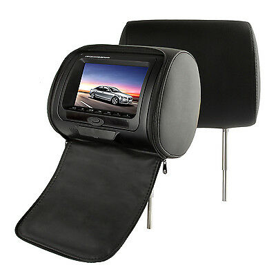 "2x 7"" HD Car Headrest Digital DVD Player FM Game Monitor Dual Monitor Screen"