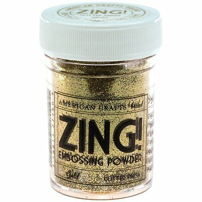 American Crafts Zing Glitter Embossing Powder 1-Ounce, Gold (ZGE-27150) NEW CXX