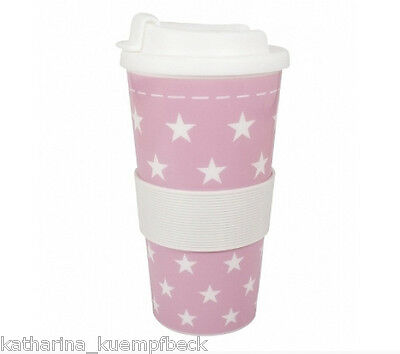 """Coffee to go Becher Kunstst. 500ml """"Sterne rosa"""""""