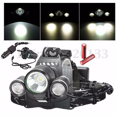10000Lm T6 3X LED Rechargeable Headlamp Headlight Head Torch Light