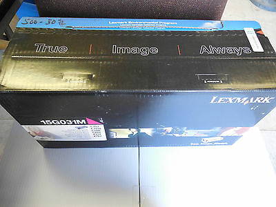 New Lexmark Magenta Laser Toner Cartridge 15G031M