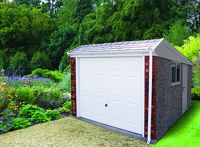 Single Concrete Sectional Garage With Pent Roof The Duke Garage