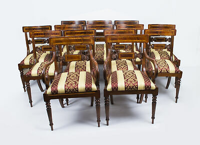 Bespoke Set of 14 Regency Style Dining Armchairs / Chairs