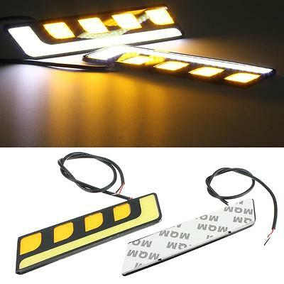 2 x 16cm L Shape COB LED Daytime Running Lights DRL with Indicator - Peugeot