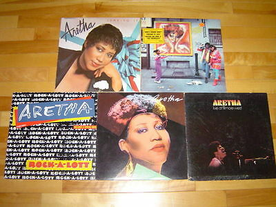 ARETHA FRANKLIN 5 LP LOT ALBUM VINYL COLLECTION Zoomin/Fillmore West/Jump To It+