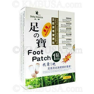 Deity Natural Plant Quintes Detox Foot Patch (12 patches)