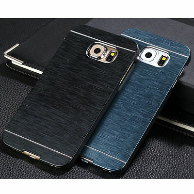 Luxury Aluminum Ultra-thin Metal Back + PC Case Cover For Samsung Galaxy Phones