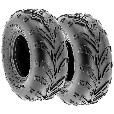 SunF 145/70-6 ATV/UTV 6 Ply Tires OFF-ROAD / SOFT TERRAIN / MUD Pair of 2 A004
