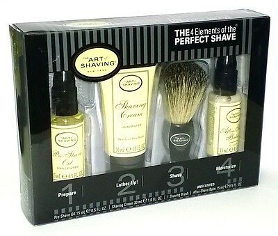 The Art of Shaving Unscented KIT Pre-shave Shaving Cream After Shave Balm GIFT