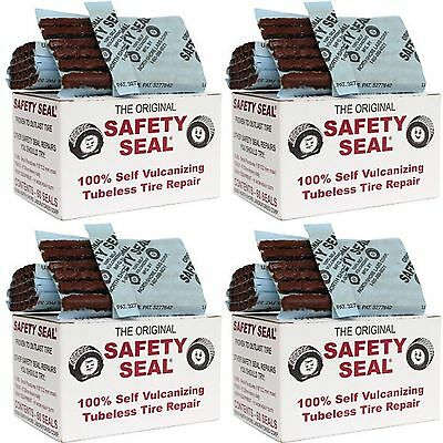 4 Box's Safety Seal Tire Plugs - Tubeless Tire Repair 4 Inch Long Brown 240 pcs