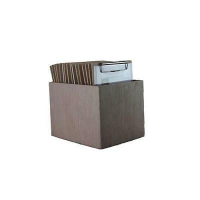 Wooden Menu Boards, A5 w Top Standard Clip & Distressed Storage Box, Set of 15