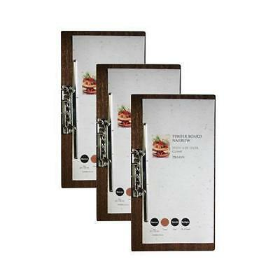 10 x Wooden Menu Board, Narrow with Side Lever Clamp, Restaurant / Cafe Menus