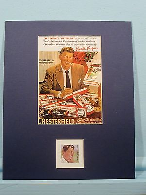 Ronald Reagan Endorses Chesterfield Cigaratettes and his own stamp