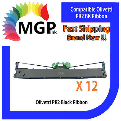 12x Compatible PR2 Black Ribbon for NANTIAN PR-2E-K12/PR-2-K12/OLIVETTI PR2Plus
