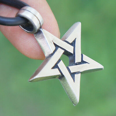 Magick Magic 5 Pointed Star Pentagram Pagan Wicca Witchcraft Pewter Pendant
