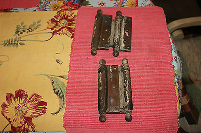 Antique Bommers Door Hinges-Pair-1800'S Patent Dates-Heavy Duty Door Hinges