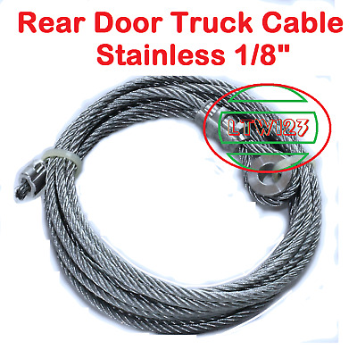 """1/8"""" Aircraft Stainless Steel Rope Cable Truck Door 110"""" length"""