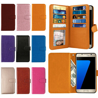 For Samsung Galaxy S7 G930 Card Slot PU Leather Magnetic Wallet Cover Case Pouch