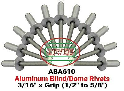 100  ALL Aluminum  Rivet (ABA610) 3/16 x 5/8 Grip