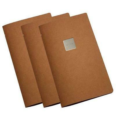 5x Deluxe Tuscan Leather Menu, Natural A4 Narrow w 4 Pockets, 'Wine' Badge