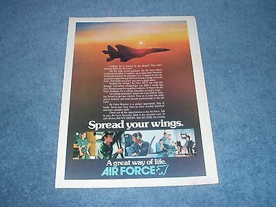 "1979 Air Force Military Vintage Color Ad ""Spread Your Wings"""